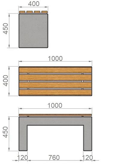 15. Стеклопластиковая форма скамьи Ск15