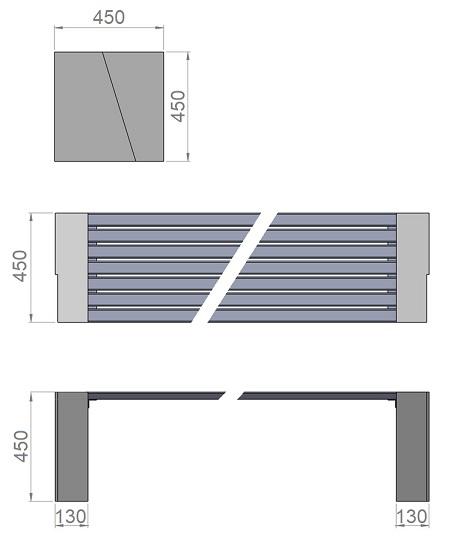 18. Стеклопластиковая форма опорного блока скамьи Ск18