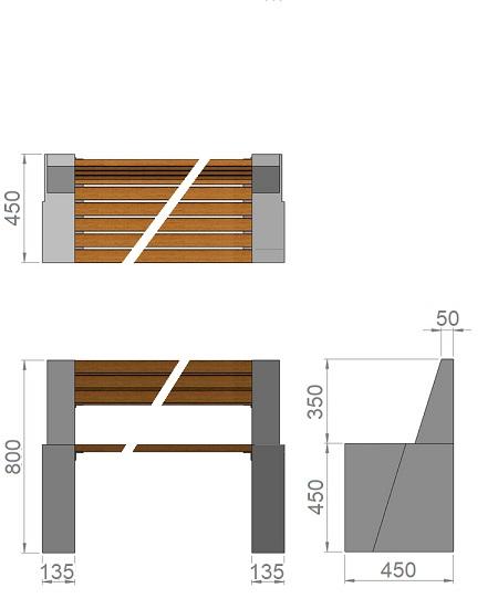 19. Стеклопластиковая форма опорного блока скамьи Ск19