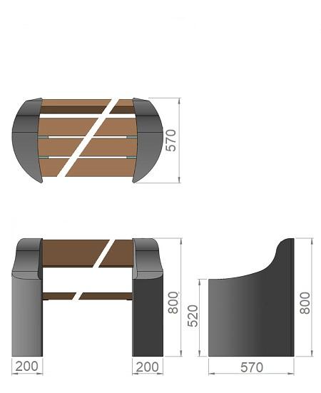 20. Стеклопластиковая форма опорного блока паркового дивана Ск20