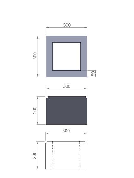 1. Стеклопластиковая форма блока столба БС300