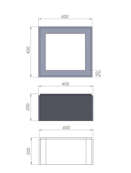 2. Стеклопластиковая форма блока столба БС400