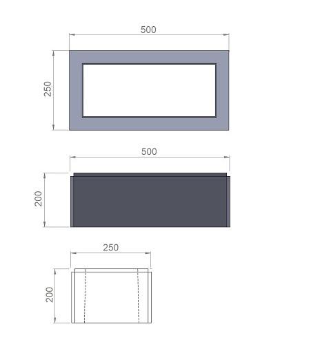 4. Стеклопластиковая форма блока столба БС500/250