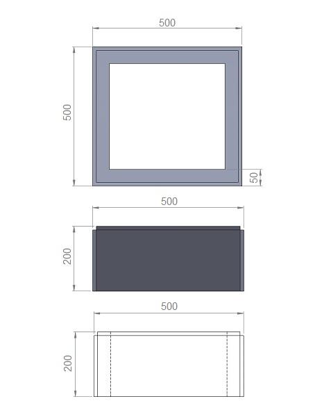 3. Стеклопластиковая форма блока столба БС500