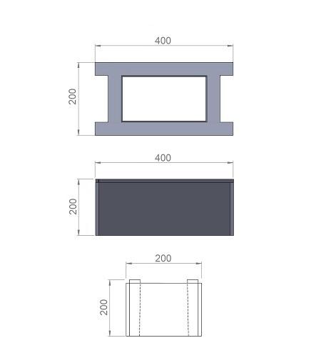 5. Стеклопластиковая форма для блока заборного пролёта БЗ200/400