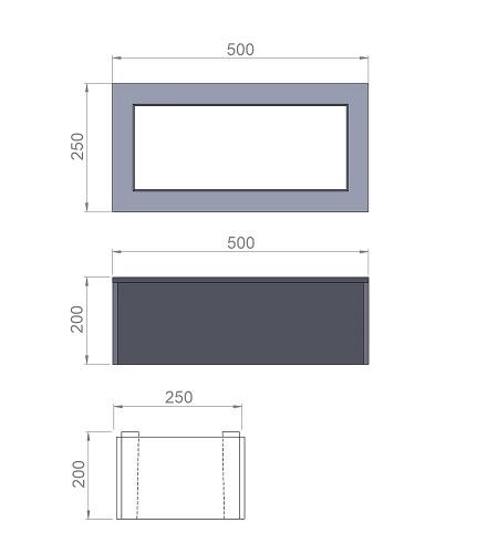 6. Стеклопластиковая форма для блока заборного пролёта БЗ250/500