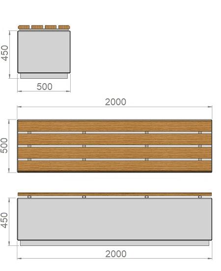 11. Стеклопластиковая форма банкетки Ск11