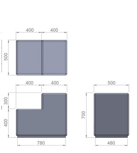 3. Стеклопластиковая форма банкетки/основания скамь Ск3