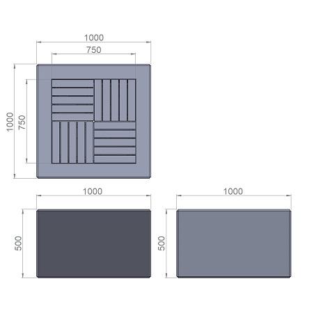 7. Стеклопластиковая форма банкетки Ск7