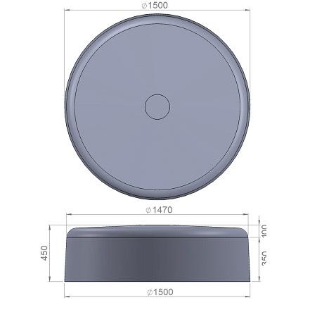 9. Стеклопластиковая форма банкетки Ск9