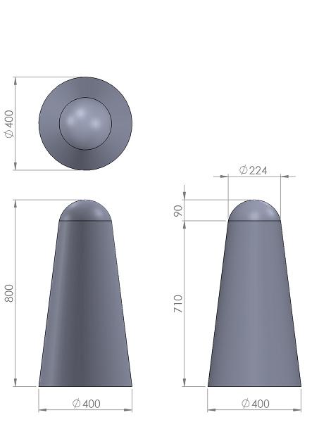 10. Стеклопластиковая форма столбика СД10