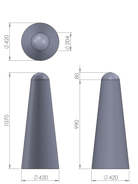 11. Стеклопластиковая форма столбика СД11