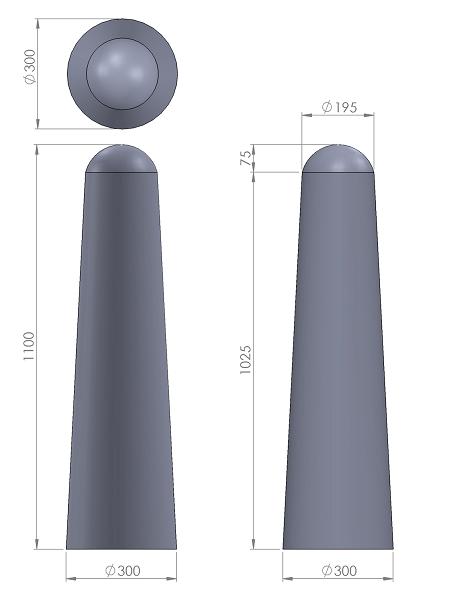 12. Стеклопластиковая форма столбика СД12