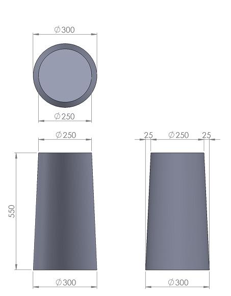 13. Стеклопластиковая форма столбика СД13