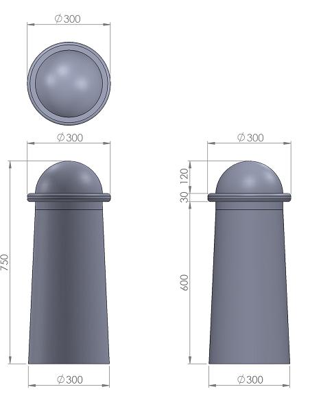 14. Стеклопластиковая форма столбика СД14