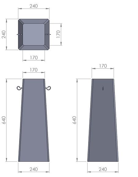 15. Стеклопластиковая форма столбика СД15