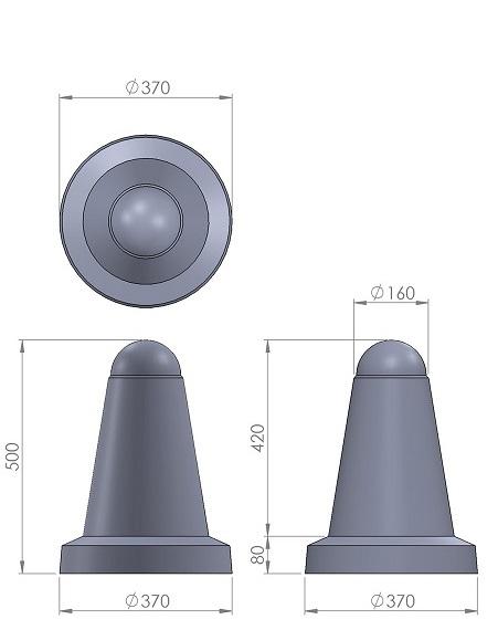 16. Стеклопластиковая форма столбика СД16