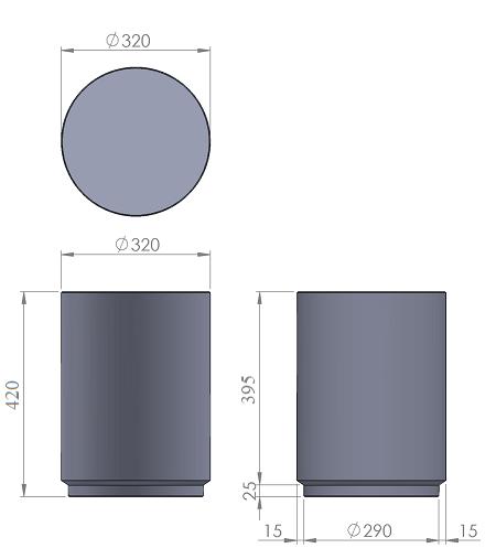 4. Стеклопластиковая форма столбика СД4