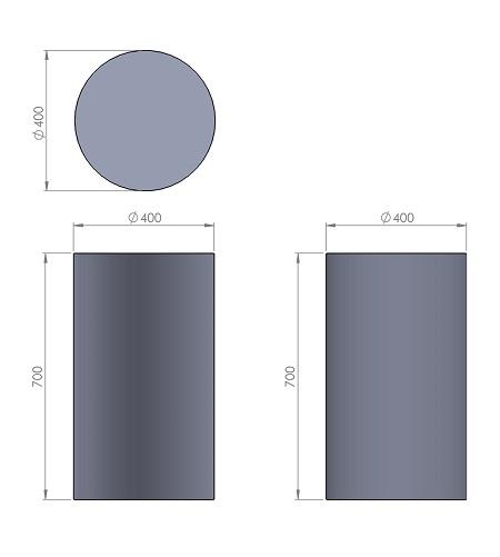 6. Стеклопластиковая форма столбика СД6