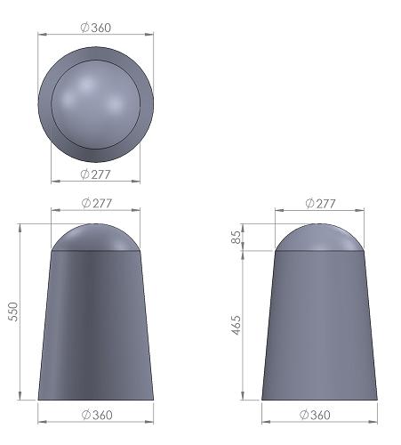 7. Стеклопластиковая форма столбика СД7