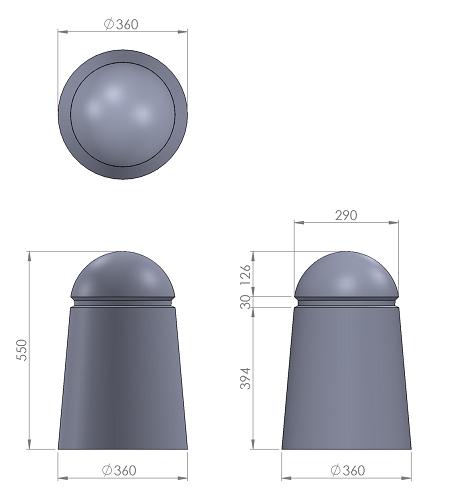 8. Стеклопластиковая форма столбика СД8
