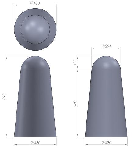 9. Стеклопластиковая форма столбика СД9
