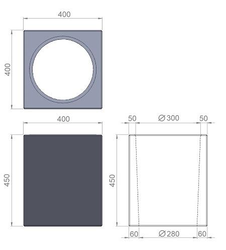 6. Стеклопластиковая форма урны У6