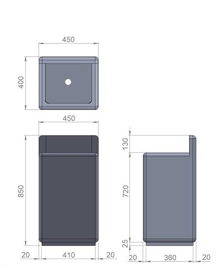 11. Стеклопластиковая форма урны У11