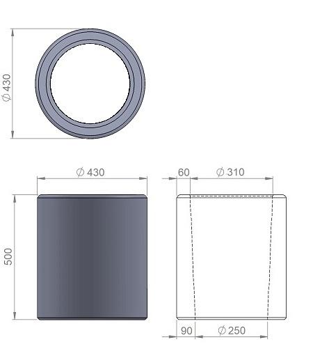 1. Стеклопластиковая форма урны У1