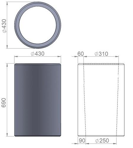 2. Стеклопластиковая форма урны У2