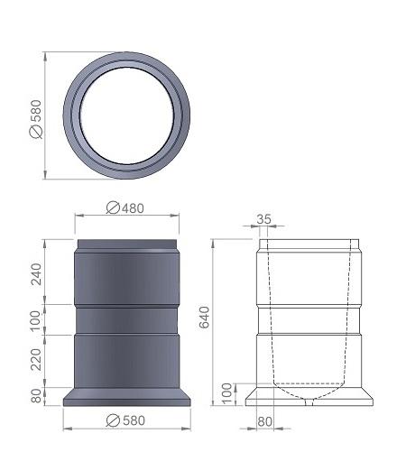 4. Стеклопластиковая форма урны У4