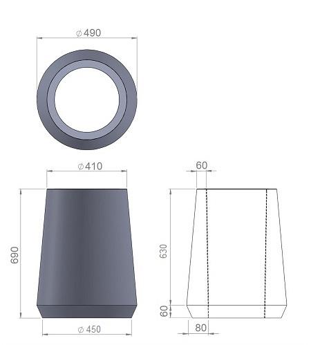 3. Стеклопластиковая форма урны У3
