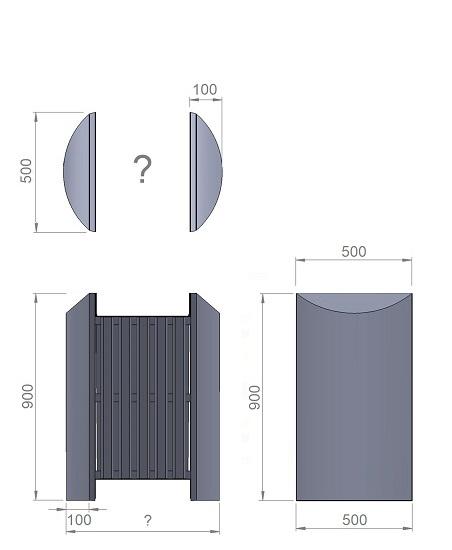 12. Стеклопластиковая форма (опорного блока) урны