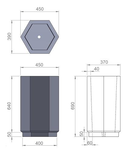 9. Стеклопластиковая форма урны У9