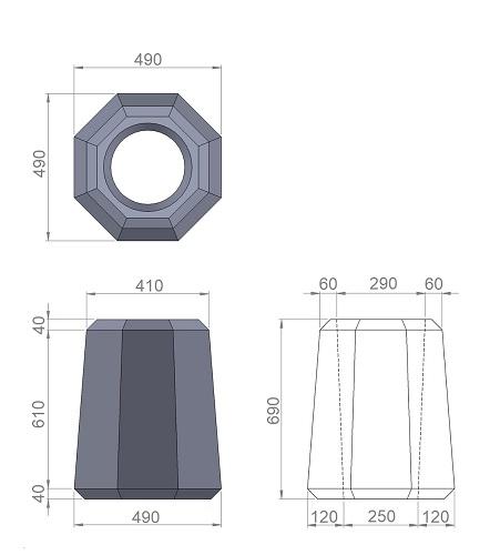 7. Стеклопластиковая форма урны У7