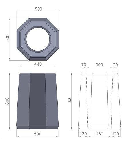 8. Стеклопластиковая форма урны У8
