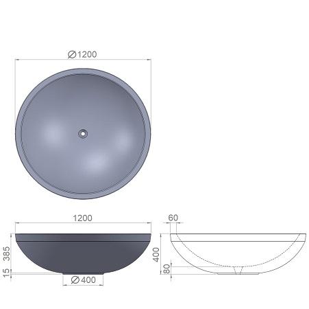 10. Стеклопластиковая форма вазона В10