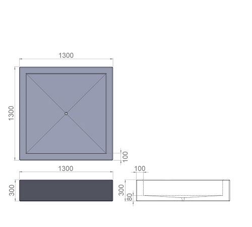 31. Стеклопластиковая форма вазона В31