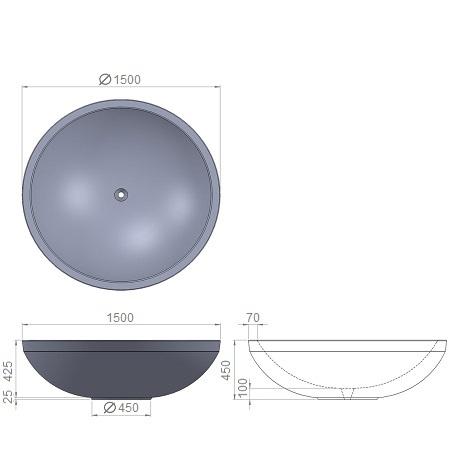 11. Стеклопластиковая форма вазона В11