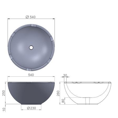 8. Стеклопластиковая форма вазона В8