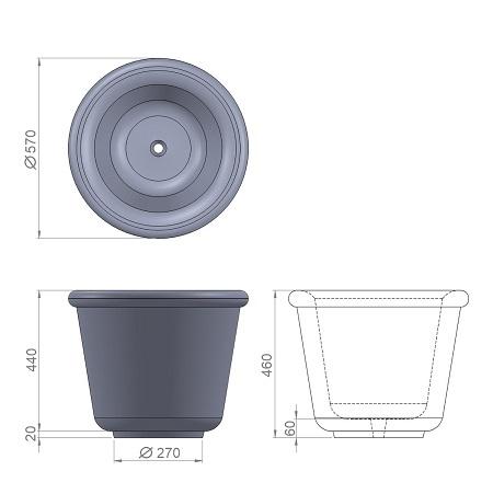 2. Стеклопластиковая форма вазона В2