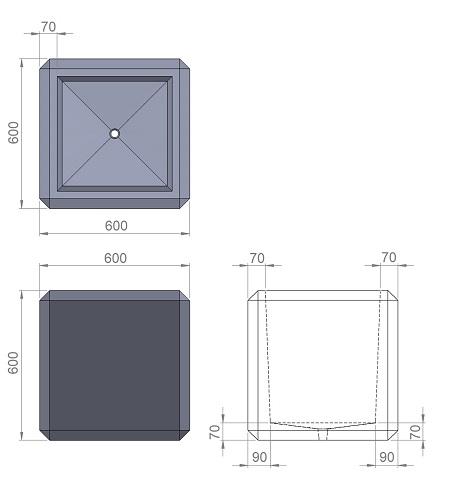 18. Стеклопластиковая форма вазона В18