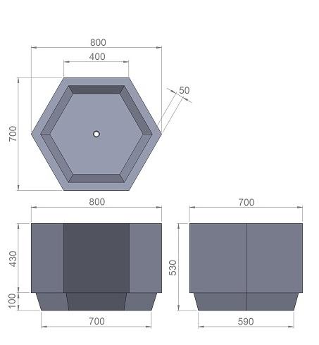 14. Стеклопластиковая форма В14